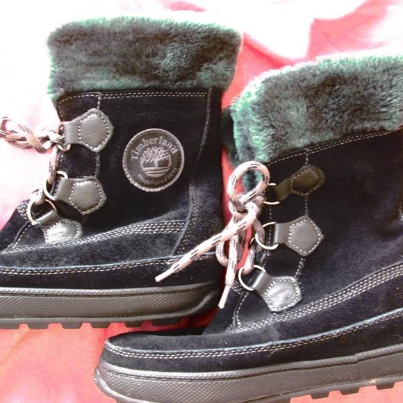 Details about Timberland Womens Mukluk Lace Boots Black Gray 26612 Size 6 M